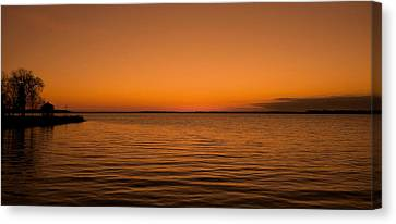 Sunrise Over The Lake Of Two Mountains - Qc Canvas Print by Juergen Weiss