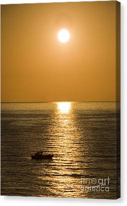 Sunrise Over The Mediterranean Canvas Print by Jim  Calarese