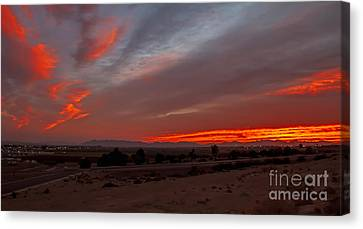 Sunrise Over Yuma Canvas Print by Robert Bales