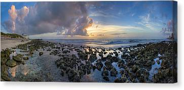 Sunrise Panorama Canvas Print by Debra and Dave Vanderlaan