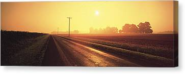 Sunrise Road Maryland Usa Canvas Print by Panoramic Images