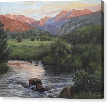 Sunrise Rocky Mountain National Park Canvas Print by Anna Rose Bain