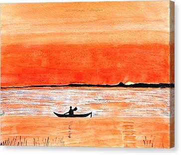 Sunrise Sail Canvas Print by Sonali Gangane
