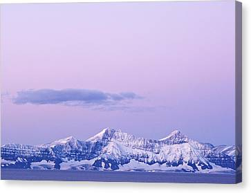 Sunrise, Scoresby Sound, East Coast Canvas Print by Daisy Gilardini