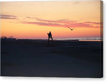 Sunrise Solitude Canvas Print by Bill Cannon