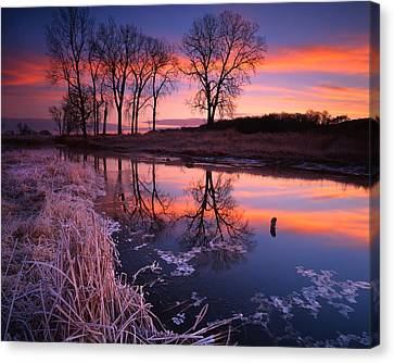 Sunrise Stripes Canvas Print by Ray Mathis