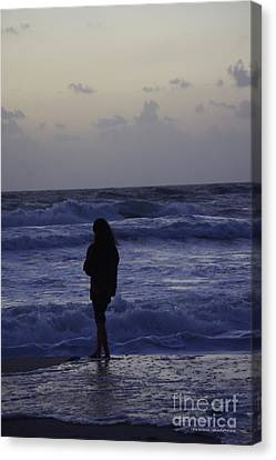 Sunrise Surf Canvas Print by Tannis  Baldwin