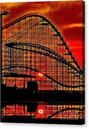 Sunrise Thru The Coaster Canvas Print by Nick Zelinsky