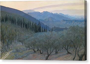 Sunrise Umbria 1914 Canvas Print by Sir William Blake Richmond