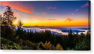 Sunrise Vancouver Canvas Print by Ian Stotesbury