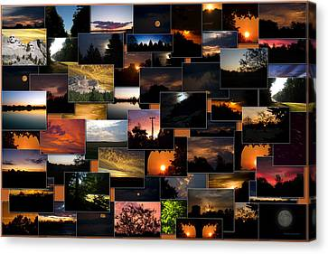 Sunrises And Sunsets Collage Rectangle Canvas Print by Thomas Woolworth