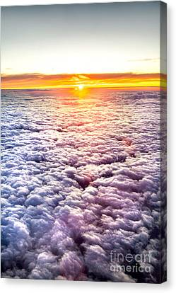 Sunset Above The Clouds Canvas Print by Az Jackson