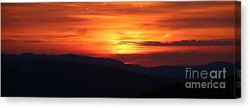 Sunset Canvas Print by Amanda Mohler