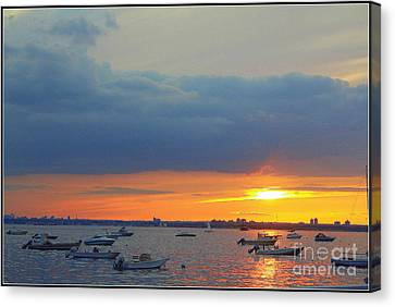 Sunset And Blue Clouds Canvas Print by Dora Sofia Caputo Photographic Art and Design