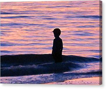 Sunset Art - Contemplation Canvas Print by Sharon Cummings