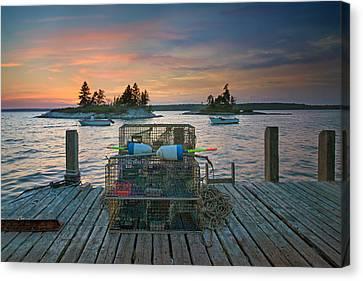 Sunset At Allen's Dock Canvas Print by Darylann Leonard Photography