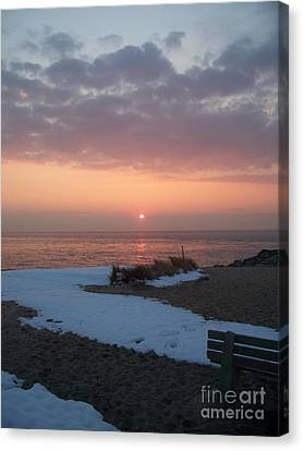 Sunset At Cape May Nj  2 Canvas Print by Eric  Schiabor