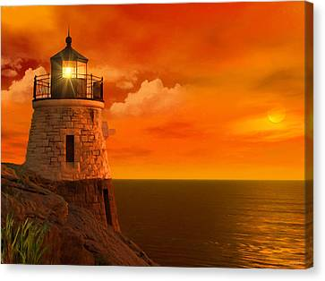 Sunset At Castle Hill Canvas Print by Lourry Legarde