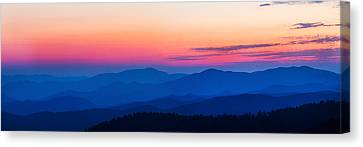 Sunset At Clingmans Dome, Great Smoky Canvas Print by Panoramic Images