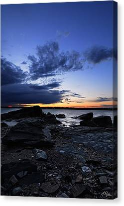 Sunset At Fort Getty Canvas Print by Lourry Legarde