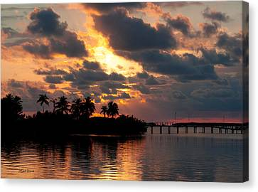 Sunset At Mitchells Keys Villas Canvas Print by Michelle Wiarda