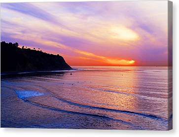 Sunset At Pv Cove Canvas Print by Ron Regalado