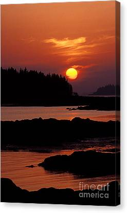 Sunset At Sunset Maine Canvas Print by Jim Block