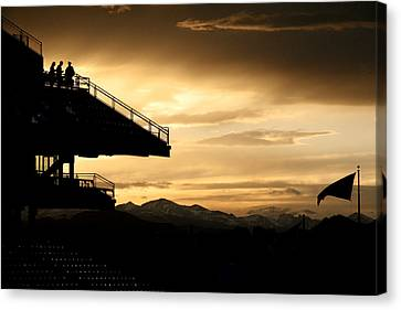 Sunset At The Ball Park Canvas Print by Marilyn Hunt