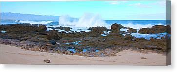 Sunset Beach Crashing Wave - Oahu Hawaii Canvas Print by Brian Harig