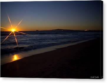 Sunset Beach Canvas Print by Heidi Smith