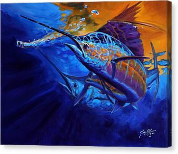 Sunset Bite Canvas Print by Savlen Art