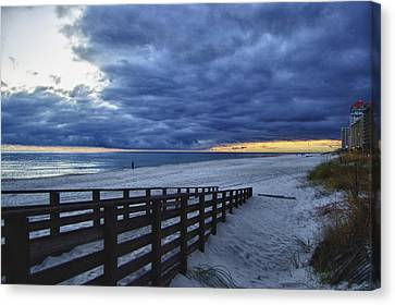 Sunset Boardwalk Canvas Print by Michael Thomas