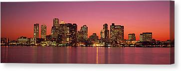 Sunset Boston Ma Canvas Print by Panoramic Images
