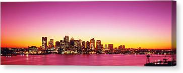 Sunset, Boston, Massachusetts, Usa Canvas Print by Panoramic Images