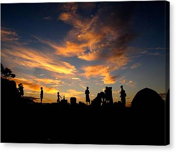 Sunset Camp Canvas Print by Donnie Freeman