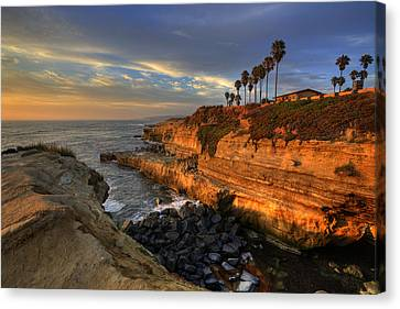 Sunset Cliffs Canvas Print by Peter Tellone