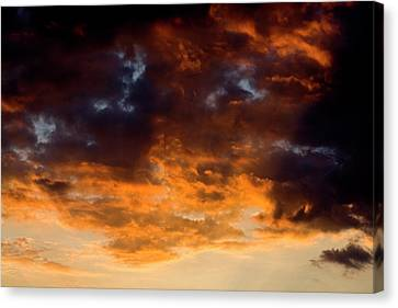 Sunset Clouds Canvas Print by Terry Thomas
