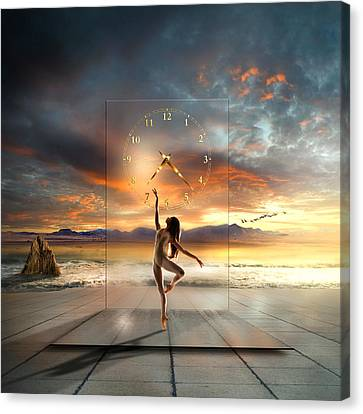 Sunset Dancing Canvas Print by Franziskus Pfleghart
