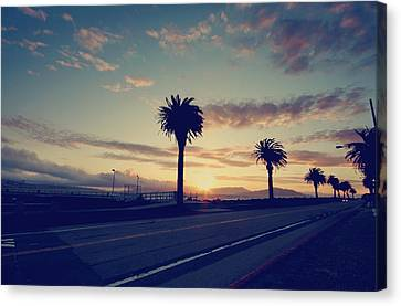 Sunset Drive Canvas Print by Laurie Search