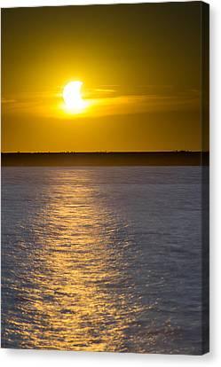 Sunset Eclipse Canvas Print by Chris Bordeleau