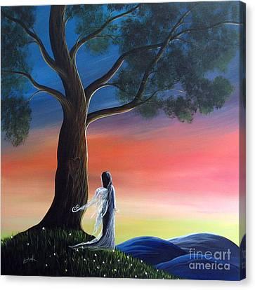 Sunset Fairy By Shawna Erback Canvas Print by Shawna Erback