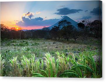 Sunset Falls Behind The Concepcion Canvas Print by Micah Wright