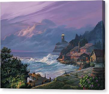 Sunset Fog Canvas Print by Michael Humphries