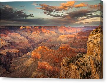 Sunset From Hopi Point Canvas Print by Rory Wallwork