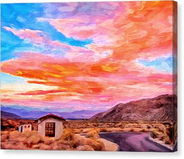 Sunset From Palm Canyon Canvas Print by Michael Pickett