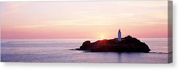 Sunset, Godrevy Lighthouse, Cornwall Canvas Print by Panoramic Images