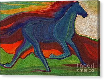 Sunset Horse By Jrr Canvas Print by First Star Art