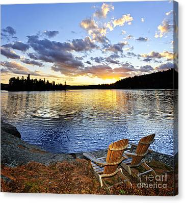 Sunset In Algonquin Park Canvas Print by Elena Elisseeva