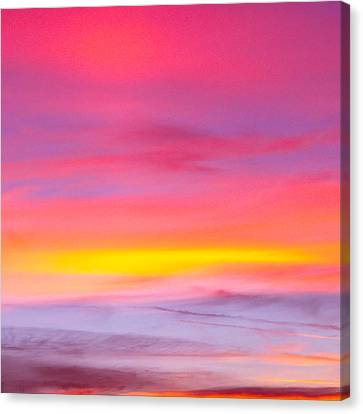 Sunset In Florda Canvas Print by Dennis Dugan