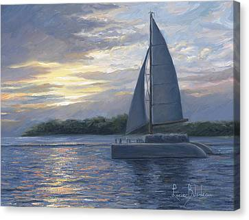 Sunset In Key West Canvas Print by Lucie Bilodeau